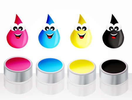 inkjet: ink drops icon