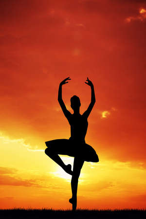 Dancer at sunset photo