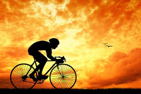 bicycler: bikers at sunset