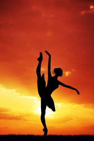 Dancer at sunset photo