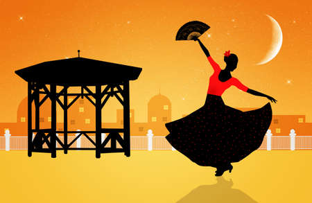 Ilustraci�n de la bailarina de flamenco photo