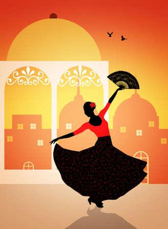 exotic dancer: Spanish flamenco dancer Stock Photo