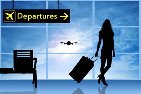 Afwijkingen in de luchthaven Stockfoto