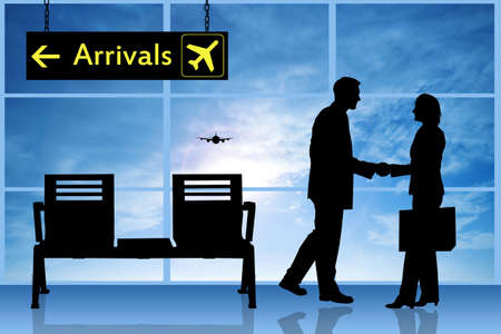 plain postcards: Arrivals in airport