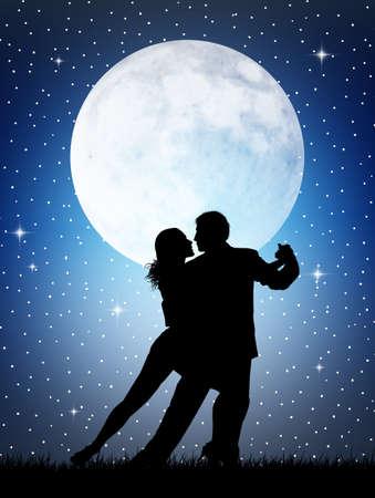 Tango silhouette photo