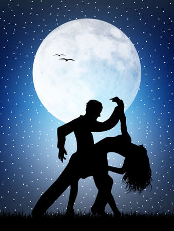 Dancers in the moonlight photo