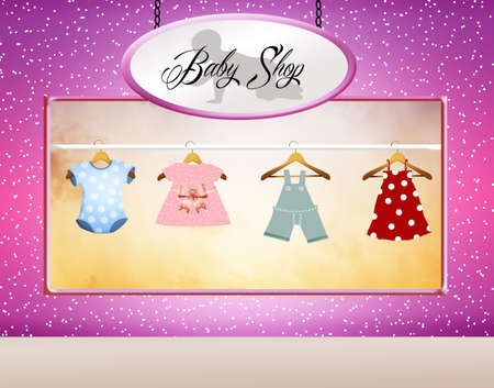 shop for baby clothes photo