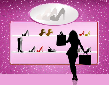 woman buy shoes photo