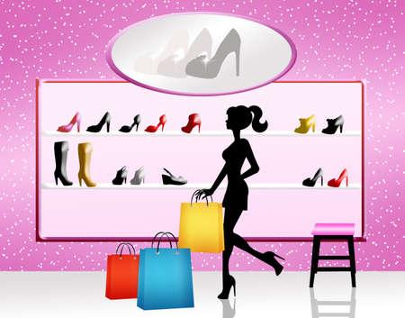 woman buy shoes photo
