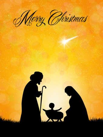 クリスマスのキリスト降誕のシーン 写真素材