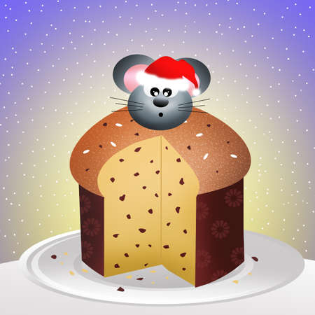 mouse of panettone photo
