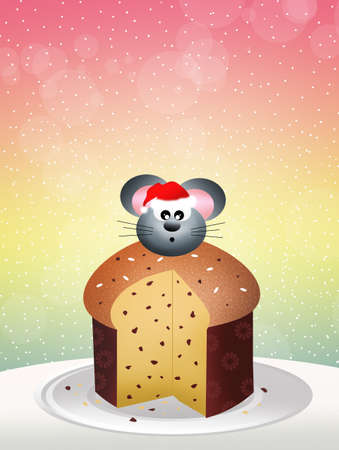 mouse of panettone