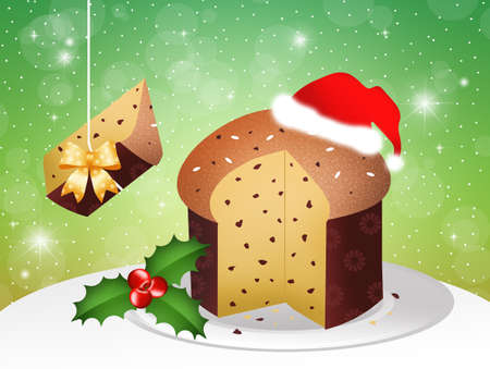 Panettone at Christmas photo