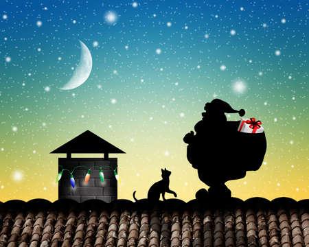 Santa Claus silhouette photo