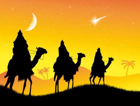 reyes magos: Tres hombres sabios