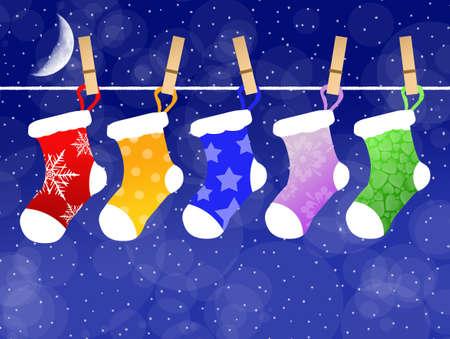 children socks: Christmas socks