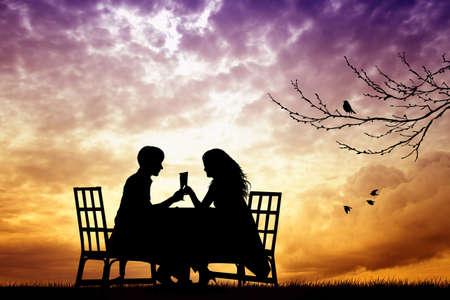 Romantic dinner photo