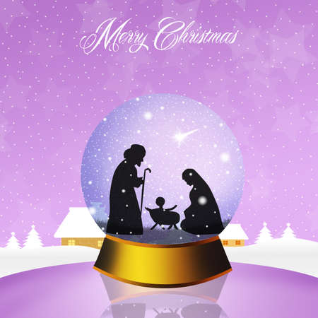 frankincense: Christmas Nativity Scene in the crystal ball