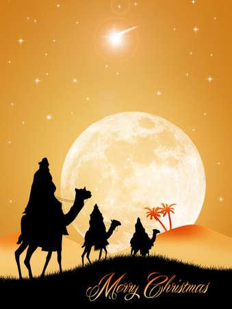 presepe: Three wise men at Christmas