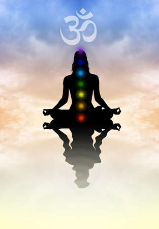 meditator: Chakras Stock Photo