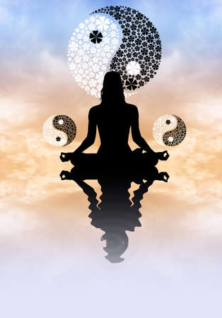 meditator: Yin Yang concept