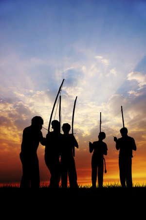 backlighting: Capoeira at sunset