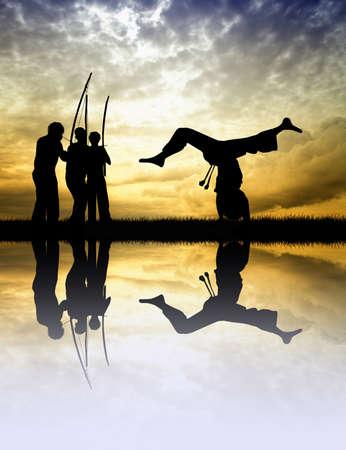 kwon: Capoeira at sunset