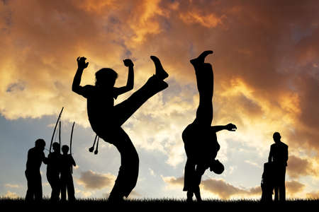 Capoeira at sunset photo
