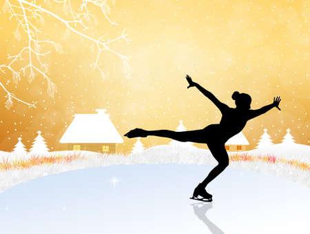 Skating on ice photo