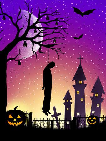 impiccata: impiccato su Halloween
