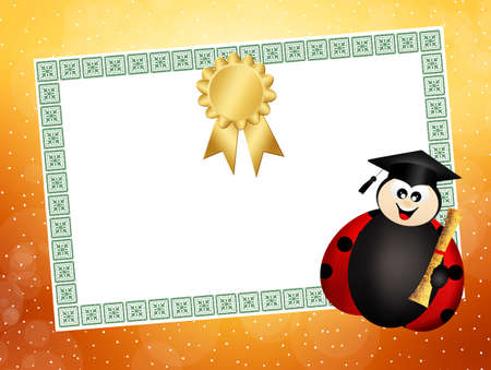 Illustration of diploma illustration