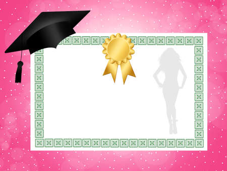 women s hat: Diploma for mother
