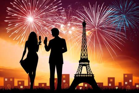 파리에서 새해 스톡 콘텐츠