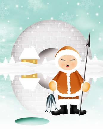 frozen fish: Eskimo