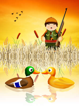 hunter hunting ducks photo