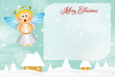 aureola: Christmas postcard Stock Photo