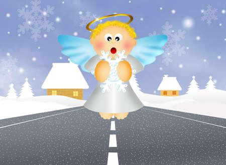 angel de la guarda: ?ngel custodio Foto de archivo