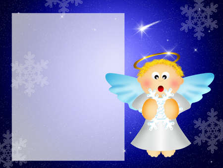Angel with snowflakes photo