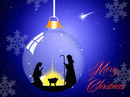 Christmas Nativity scene photo