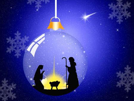 크리스마스 출생 장면 스톡 콘텐츠