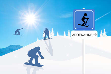 adrenaline: Adrenaline sign Stock Photo