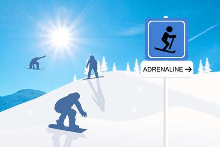 Adrenaline sign Stock Photo