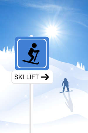 Skilift sign photo