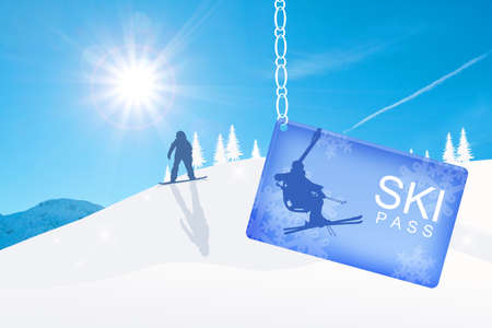 ski pass: Skipass Stock Photo