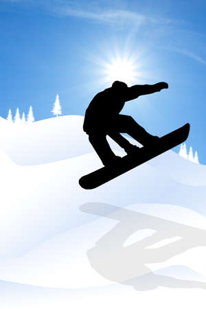 snowboarder silhouette photo