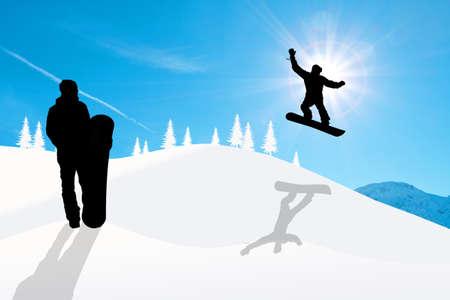 ski pass: snowboarder