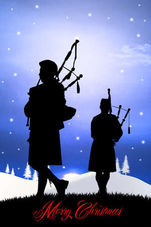 Pipers at Christmas photo