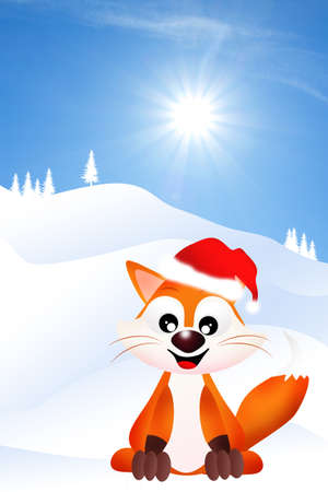 red fox at Christmas photo