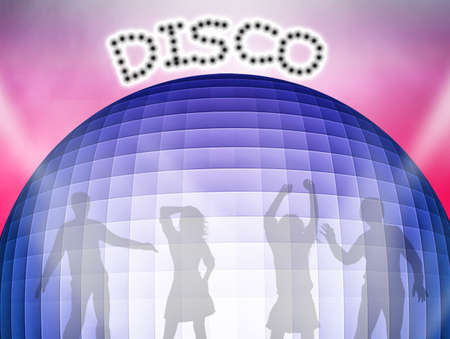 sexual pleasure: illustration of disco