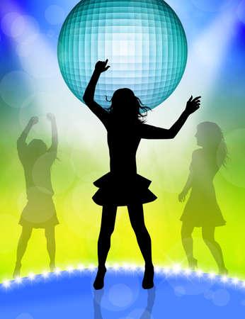 woman dancing in disco photo